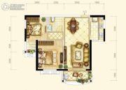 耀江・西岸公馆2室2厅1卫84平方米户型图