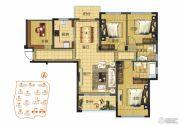 京联观湖4室2厅2卫127平方米户型图