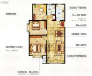 永泰城3室2厅1卫106平方米户型图