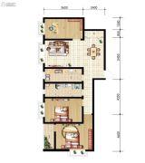 山海城邦・马街摩尔城3室2厅1卫109平方米户型图