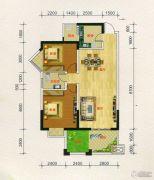 凯旋城2室2厅1卫0平方米户型图