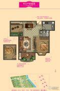 大名城2室2厅1卫82--85平方米户型图