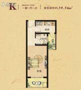 常绿林溪谷1室1厅1卫39平方米户型图