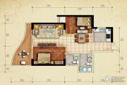 美鳌城2室2厅1卫79平方米户型图