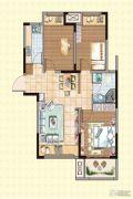 荣盛龙湖半岛3室2厅1卫87平方米户型图