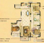 宏基・阳光尚城3室2厅2卫124平方米户型图