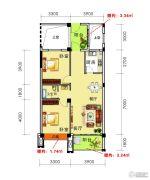 海御新天地2室2厅1卫91平方米户型图