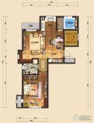 国信南山1室1厅1卫70平方米户型图