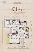 宏达世纪新城3室2厅2卫136平方米户型图