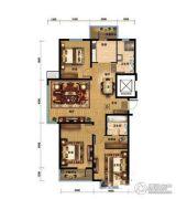 金色河畔3室2厅2卫0平方米户型图