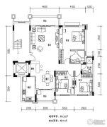 欧浦花城3室2厅2卫128平方米户型图
