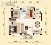 东湖国际城3室2厅1卫100平方米户型图