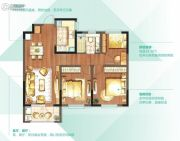 朗诗太湖绿郡3室2厅1卫102平方米户型图