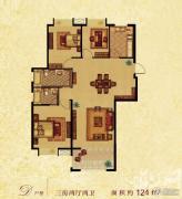 香水郡3室2厅2卫136--139平方米户型图
