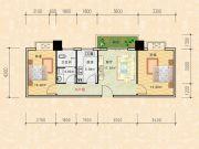 科特・明日华府二期2室1厅1卫73平方米户型图