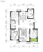 民生城・逸兰汐3室2厅1卫119平方米户型图