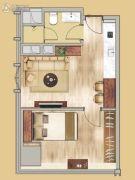 中鼎君和名城二期名汇1室1厅1卫56平方米户型图