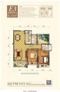 平沙奥园广场冠军城2室2厅2卫103平方米户型图