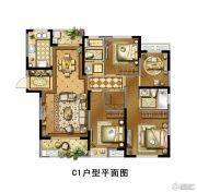 景瑞御江山4室2厅2卫135平方米户型图