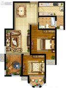 国金华府2室2厅1卫0平方米户型图