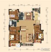 东安瑞凯国际3室2厅2卫125平方米户型图