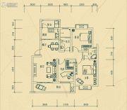 华瑞园3室2厅2卫111平方米户型图