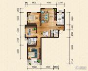 汉成华都3室2厅2卫137平方米户型图
