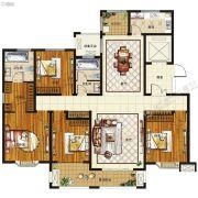 腾飞鹿鸣湖畔4室2厅2卫175--190平方米户型图