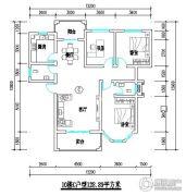 君尚一品小区二期2室2厅2卫128平方米户型图