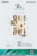 蓝光林肯公园3室2厅2卫123平方米户型图