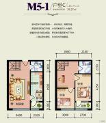 天悦国际2室2厅2卫0平方米户型图
