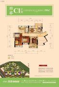 星河丹堤花园4室2厅2卫100平方米户型图