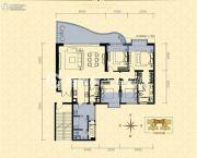 龙湖世纪峰景4室2厅2卫177平方米户型图
