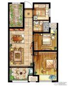 新城乐天街3室1厅1卫74平方米户型图