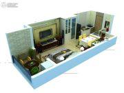 诚基・景天花园1室1厅1卫36平方米户型图