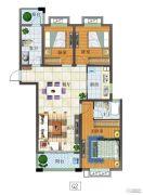 富源尚城3室2厅2卫116平方米户型图