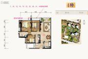 合景新鸿基泷景3室2厅2卫96平方米户型图
