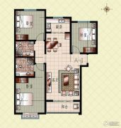 上起澜湾3室2厅2卫126平方米户型图