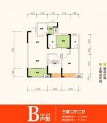 金科城3室2厅2卫117平方米户型图
