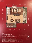 中央学府2室2厅1卫73平方米户型图
