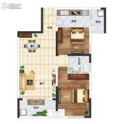 长江国际广场2室2厅1卫88平方米户型图