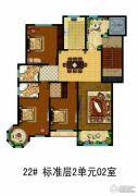 万国园白金汉府3室2厅2卫0平方米户型图
