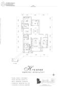 富力湾4室2厅2卫159平方米户型图