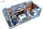 康桥溪公馆1室1厅1卫39平方米户型图