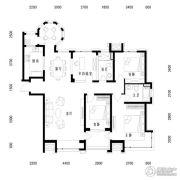 中海国际社区4室2厅2卫155平方米户型图