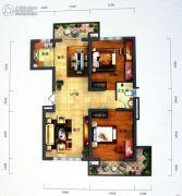 景园・盛世华都2室2厅1卫155平方米户型图