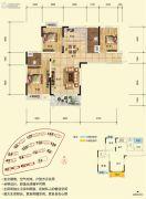 博古东海岸3室2厅2卫100平方米户型图
