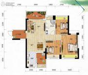 冠亚・御龙湾3室2厅1卫104平方米户型图