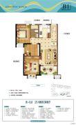 世茂御海墅3室2厅1卫0平方米户型图