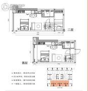 涛汇广场3室2厅2卫39平方米户型图